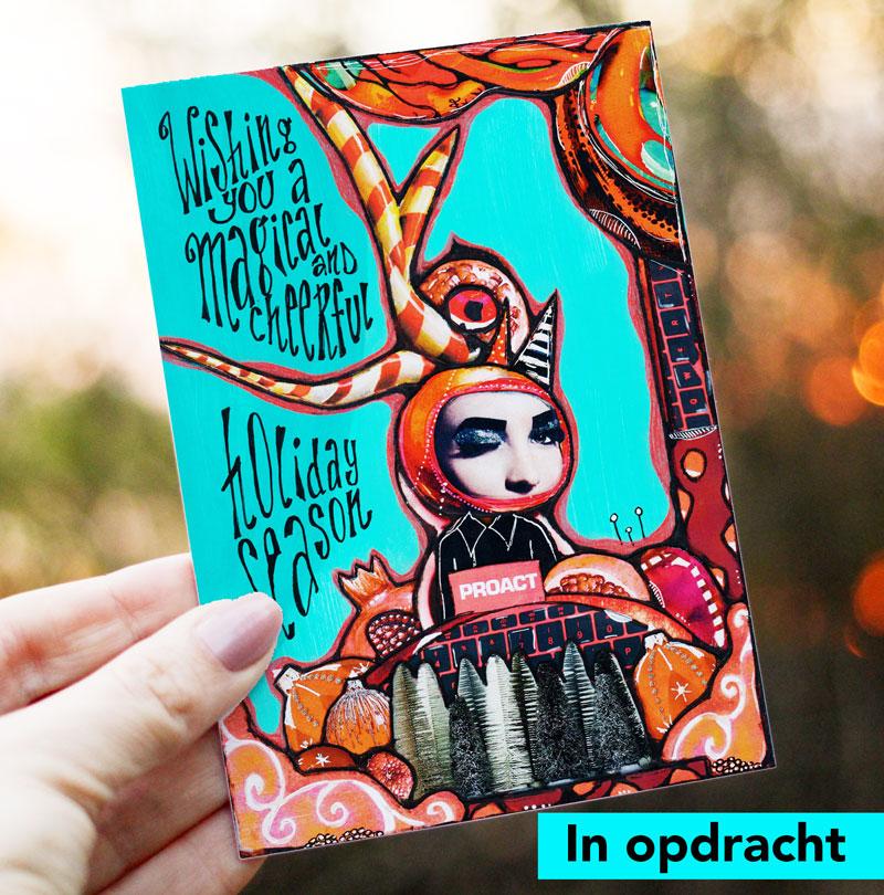 Ontwerp kerstkaart Proact Netherlands 2019